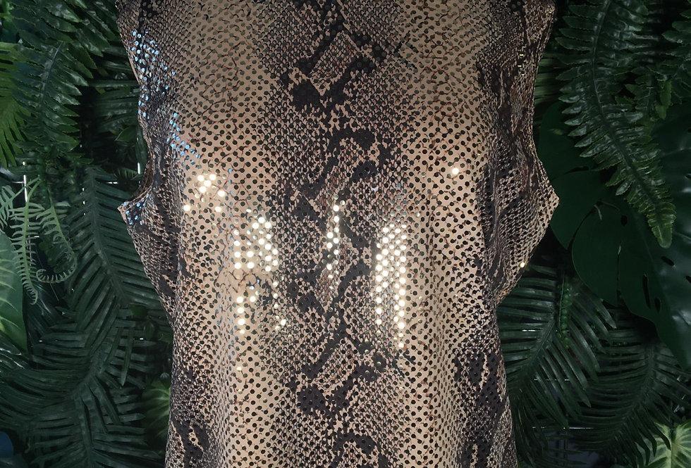 Snakeskin shimmer blouse