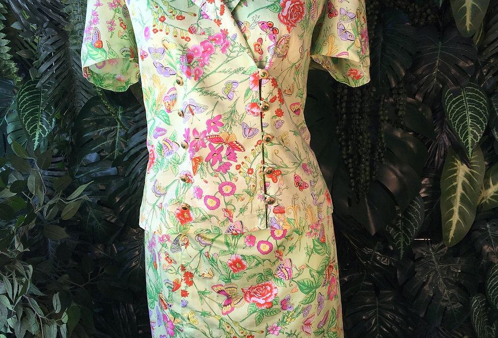 Handmade 2 piece skirt suit (size 10)