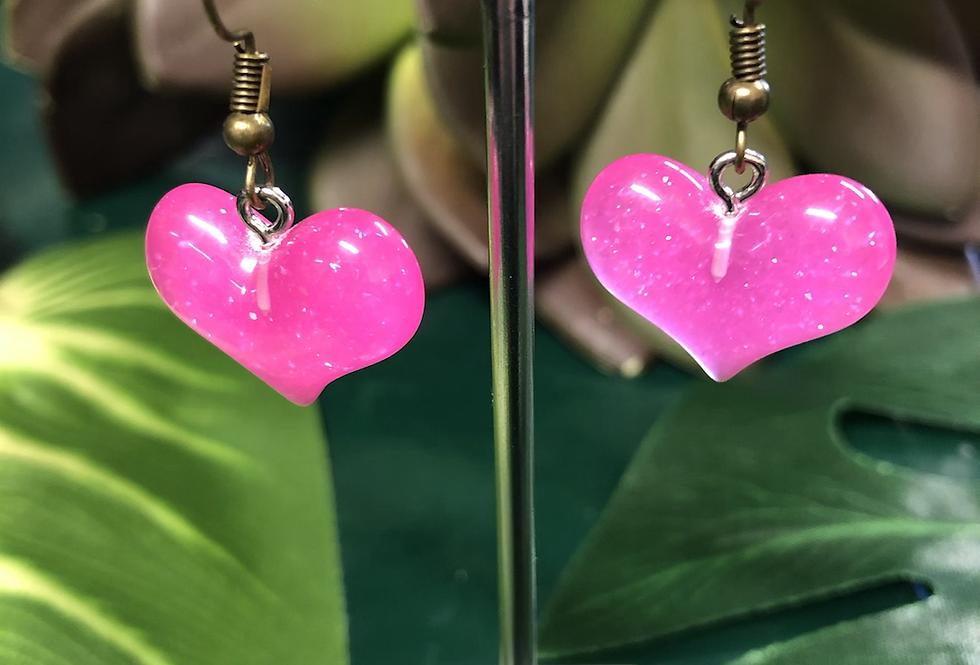 Glitter Heart ♥️  earrings (11 colours)