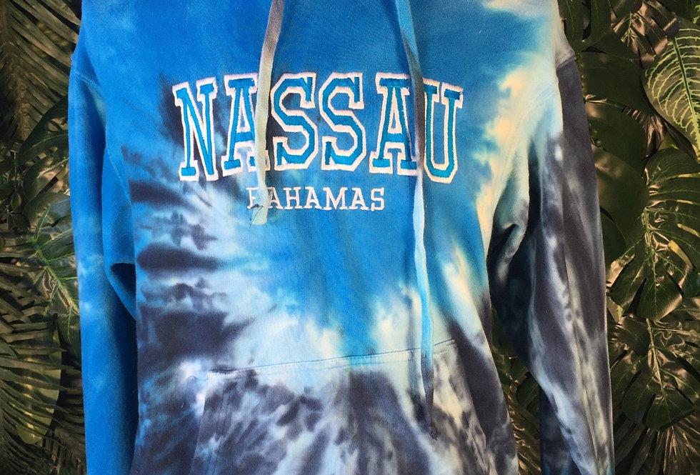 Nassau tie dye hoodie (S)