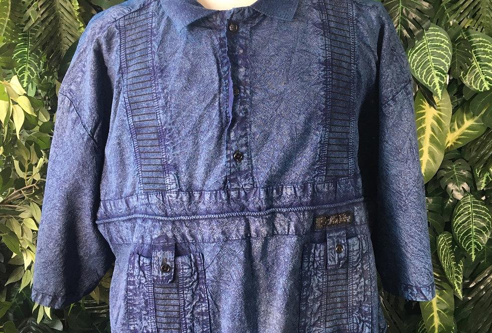 80s denim effect cotton shirt (XXL)