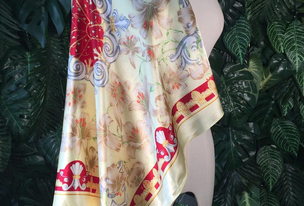 Balmain original printed satin scarf