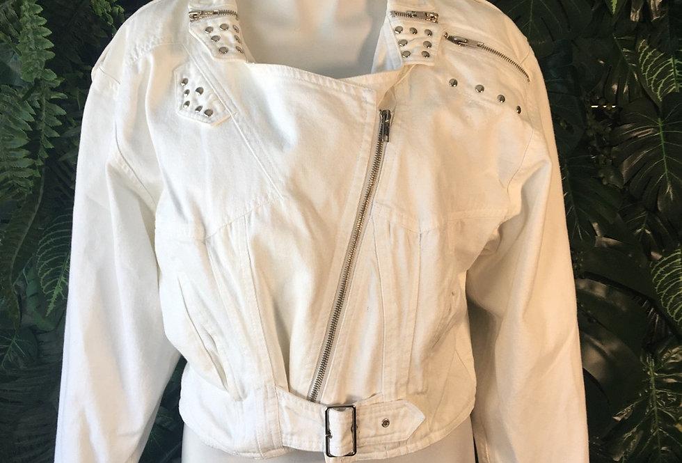 White denim biker jacket (size 38)