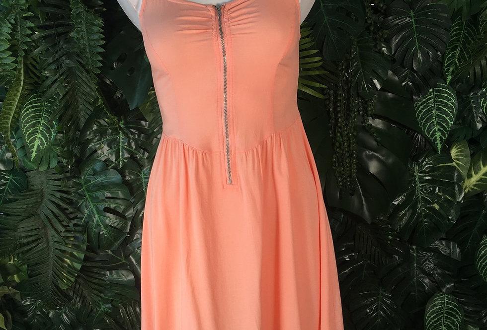 Peach zip up mini dress (size 8)