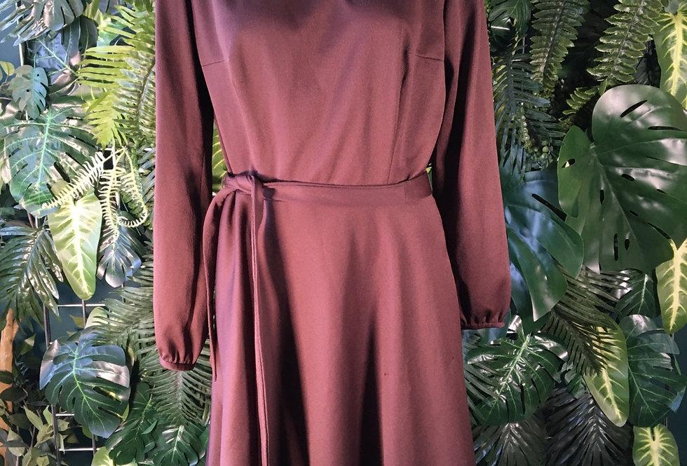 Chocolate 70s dress