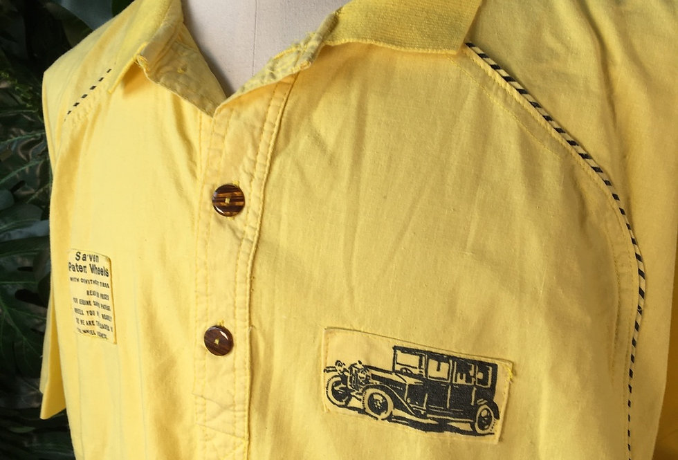 New Fast yellow polo shirt (L)