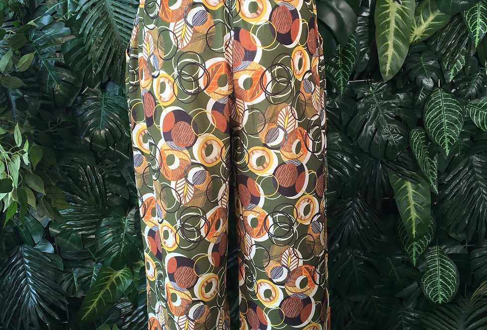 Italian printed light trousers (size 8-10)