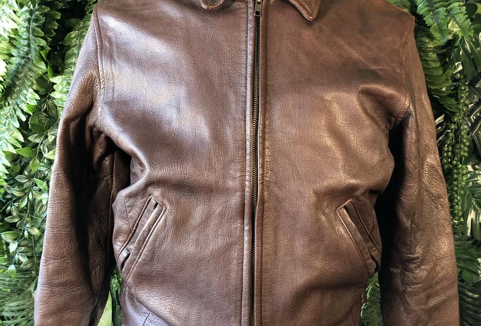 J.CREW leather bomber