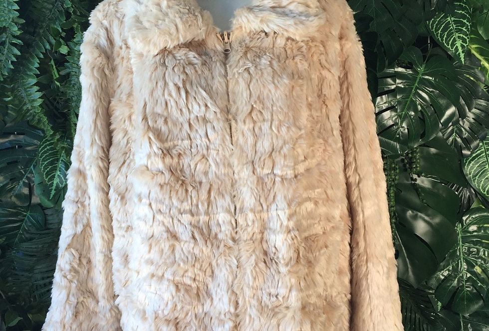 Faun faux fur zip up coat