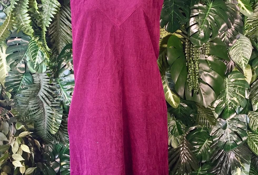 Burgundy corduroy shift dress (size 20)