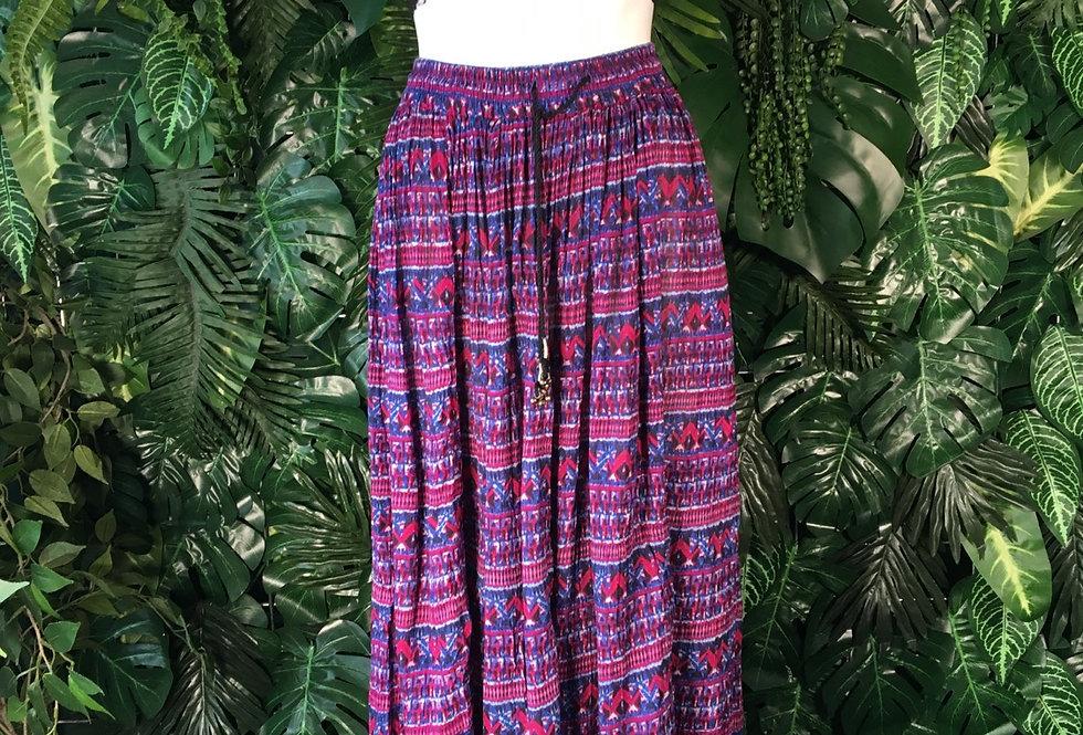Geometric full length hippy skirt (M)
