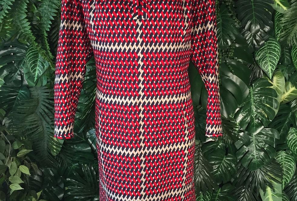 1970s geometric dress (size 18)