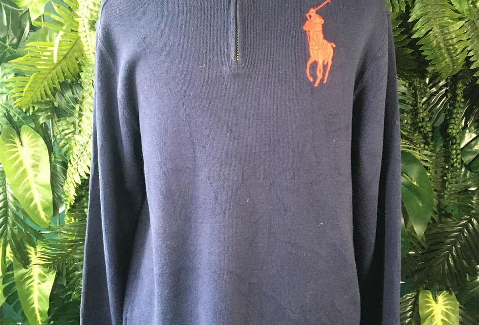 Polo Ralph Lauren Zip Neck Sweater (XL)