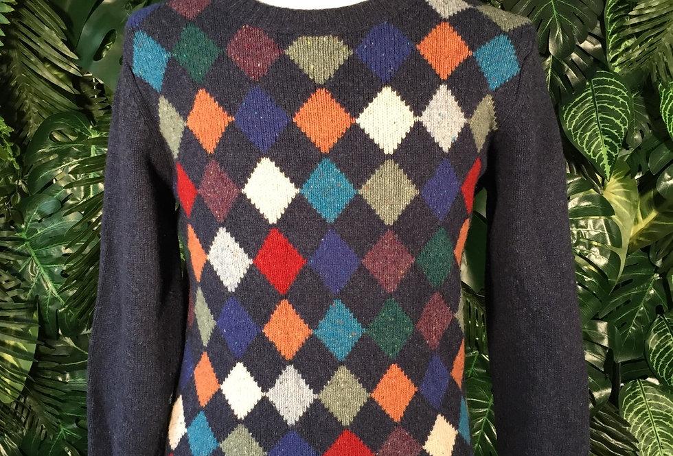Colorful diamond knit (S)