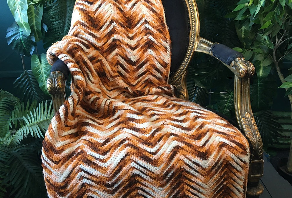 70s chevron blanket