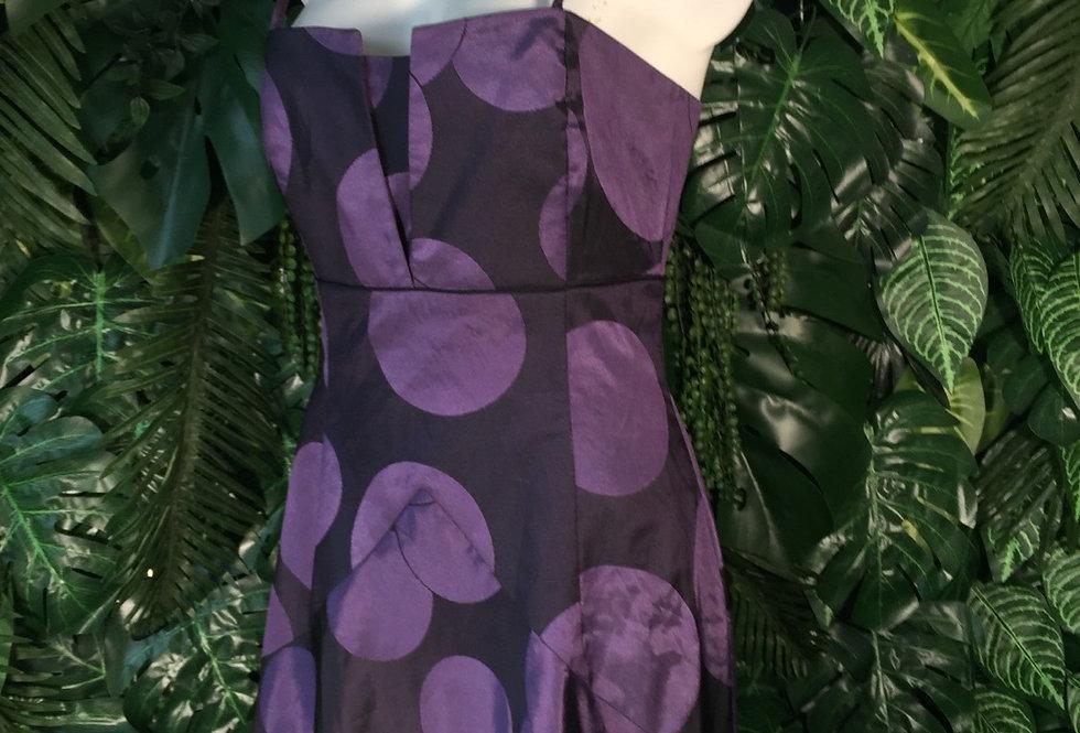 Swing polka dot prom dress (size 12)
