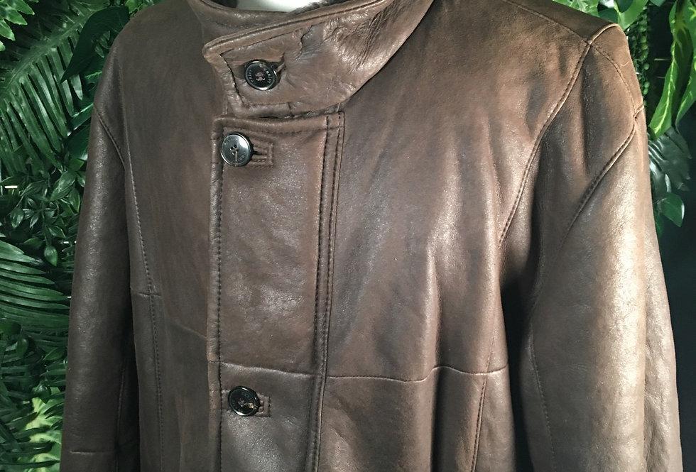 Authentic Christ Leather Coat (L)