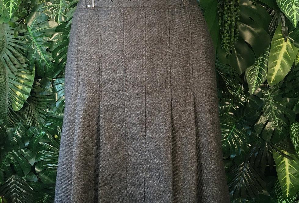 Chrsitian Berg grey pleated skirt (Size 14)