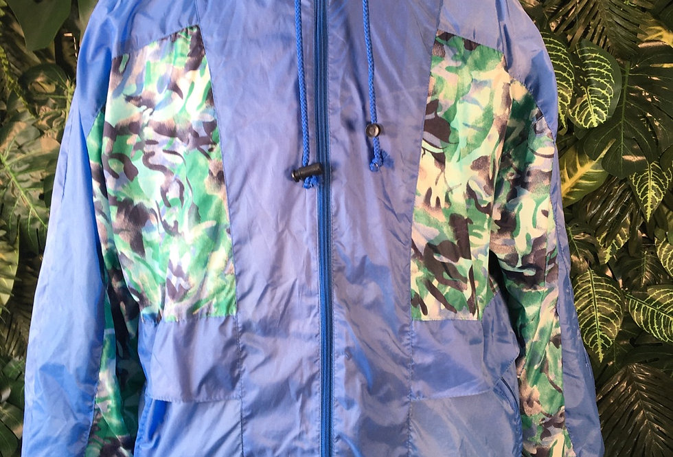 Marcel Clair track jacket with concealed hood (S)