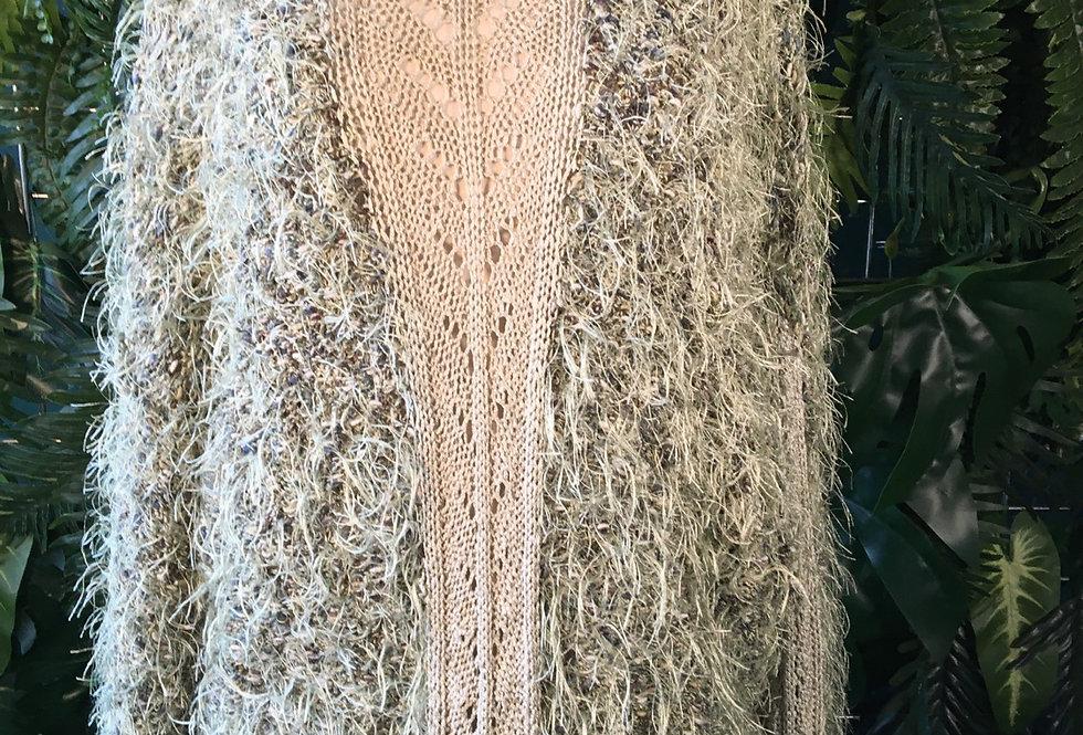 90s Hairy Crochet Sweater (L)