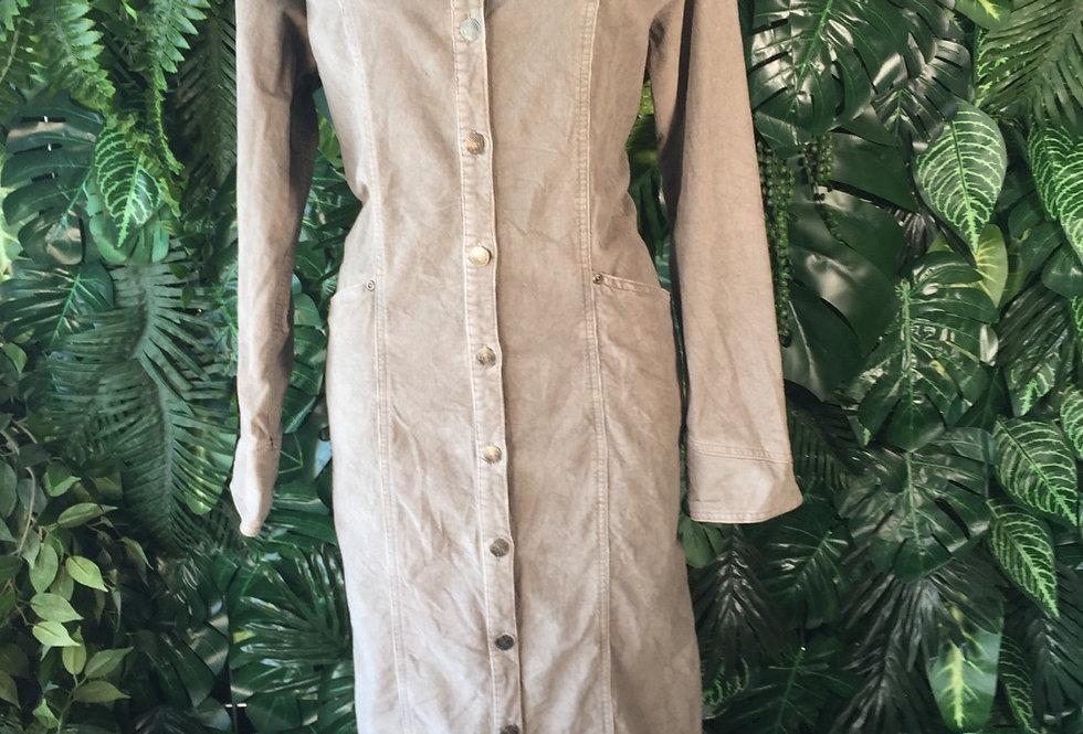 Corduroy shirt dress (size 14)