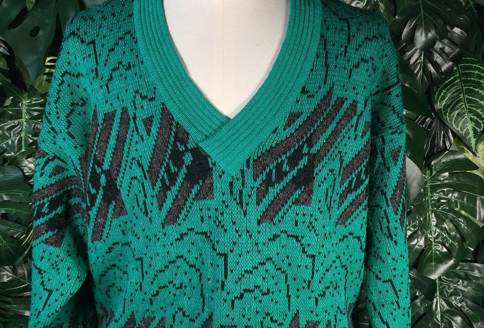 Monello 90s v neck knit (L)