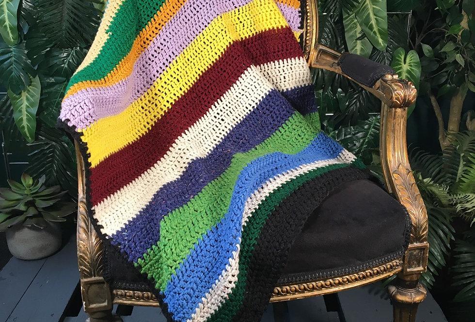 Small Hand Crocheted Throw