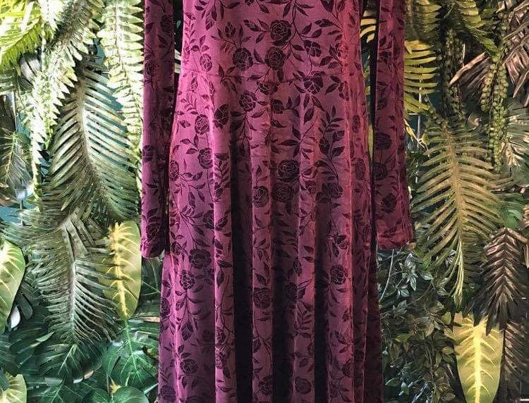 Studio Ease Floral Velvet Dress (10-12)