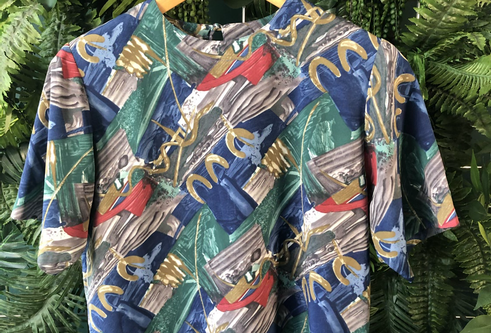 90s printed top