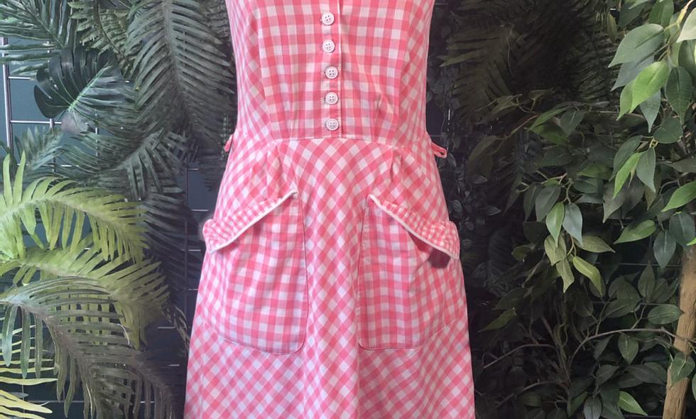 1970s  betty barkley gingham dress