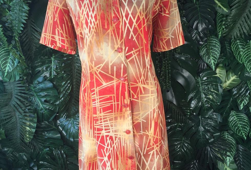 Guy Dubois graphic shirt dress (size 18)
