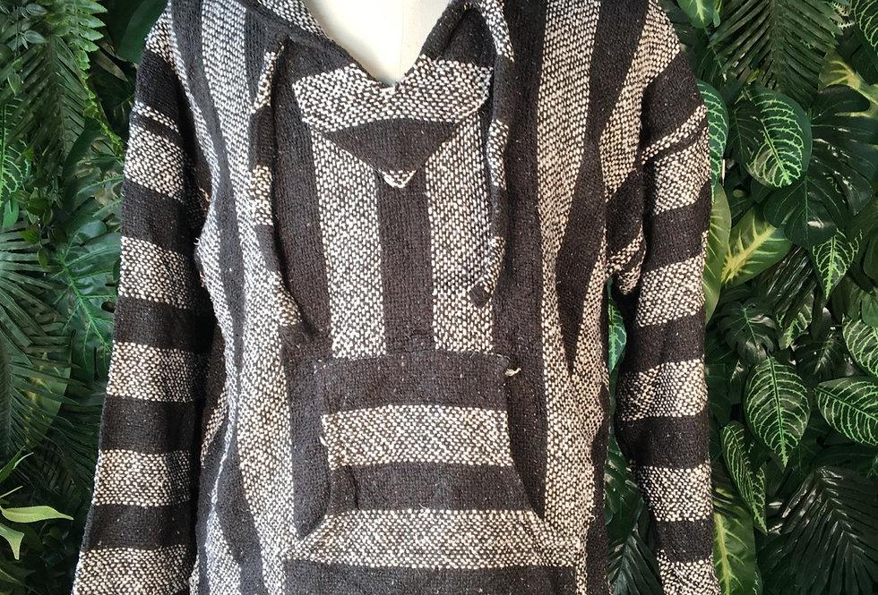 Black & grey baja hoody XL