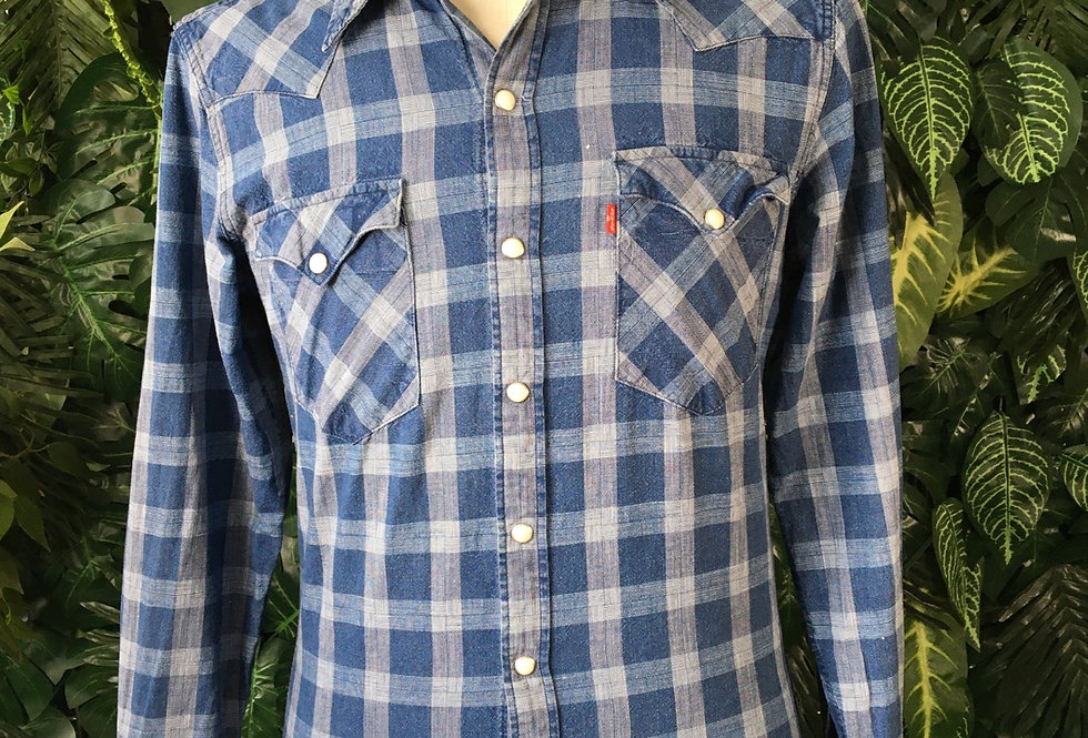 Levi's check western shirt (S)