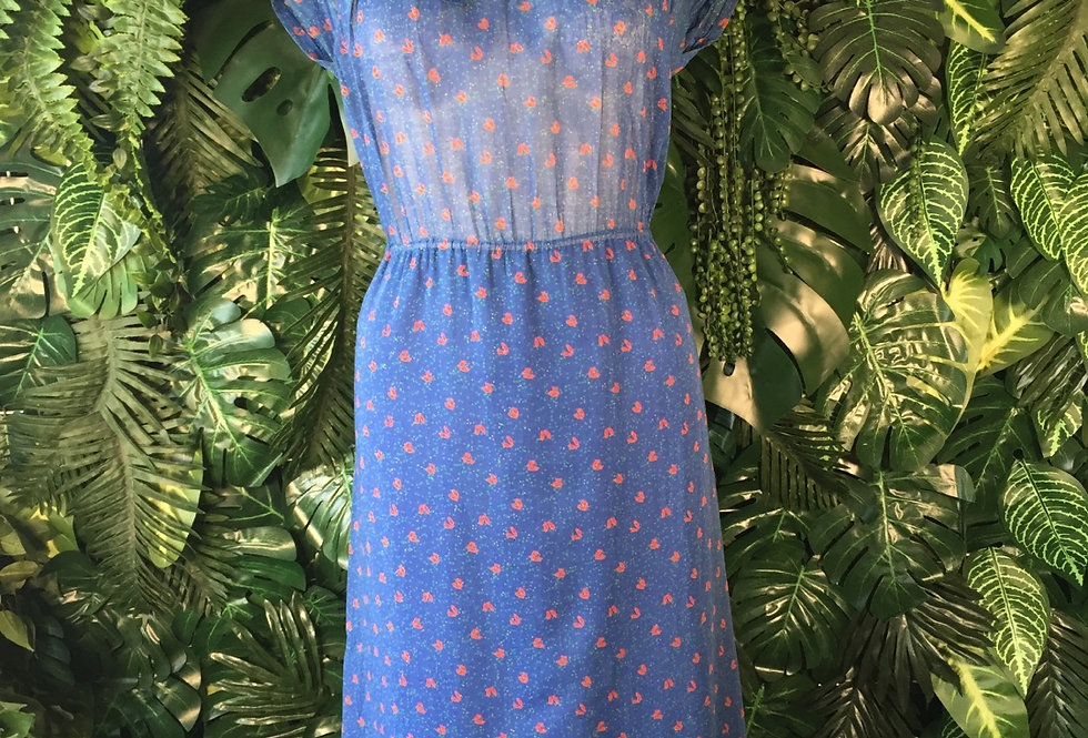 Floral print pussy bow dress (size 16)