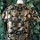Thumbnail: 1960s gold brocade rose blouse