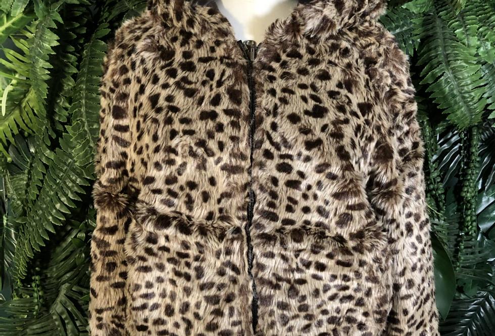 Hooded faux fur