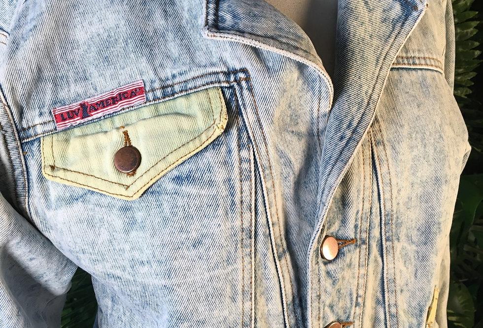 1980s Stonewashed Denim Jacket (M)