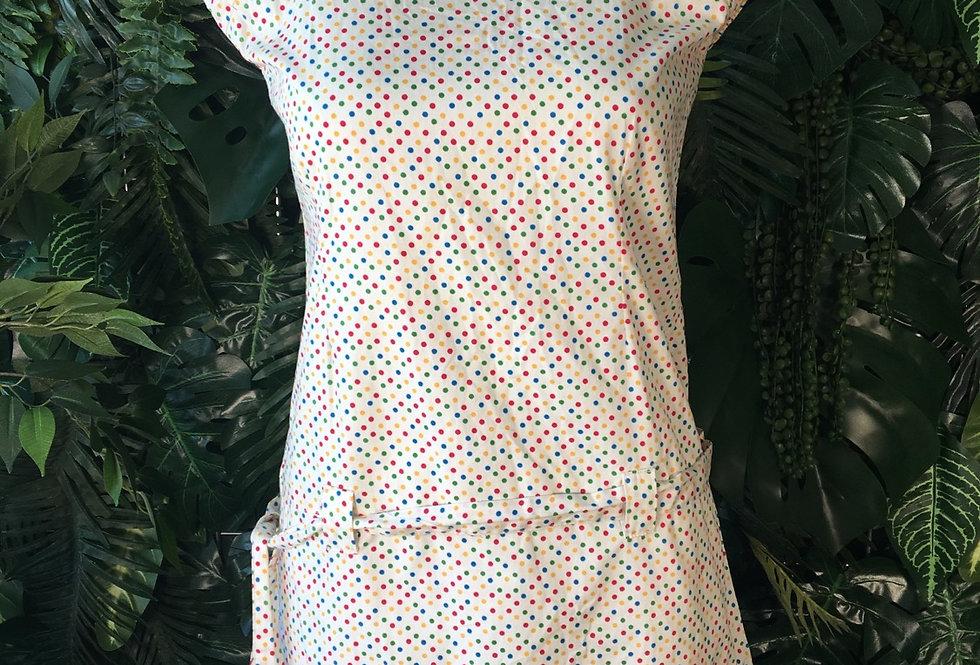Rainbow polkadot mini dress (Size 14)