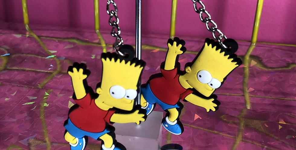 Bart Simpson earrings