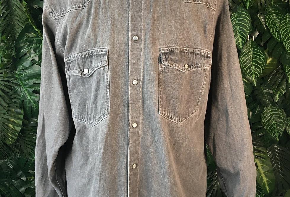 John F Gee grey denim shirt (XL)