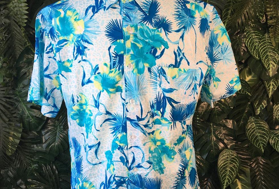 Blue Hawaiian shirt (L)