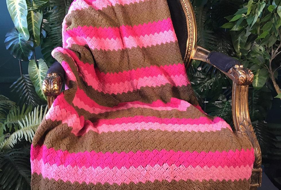 Striped handmade blanket