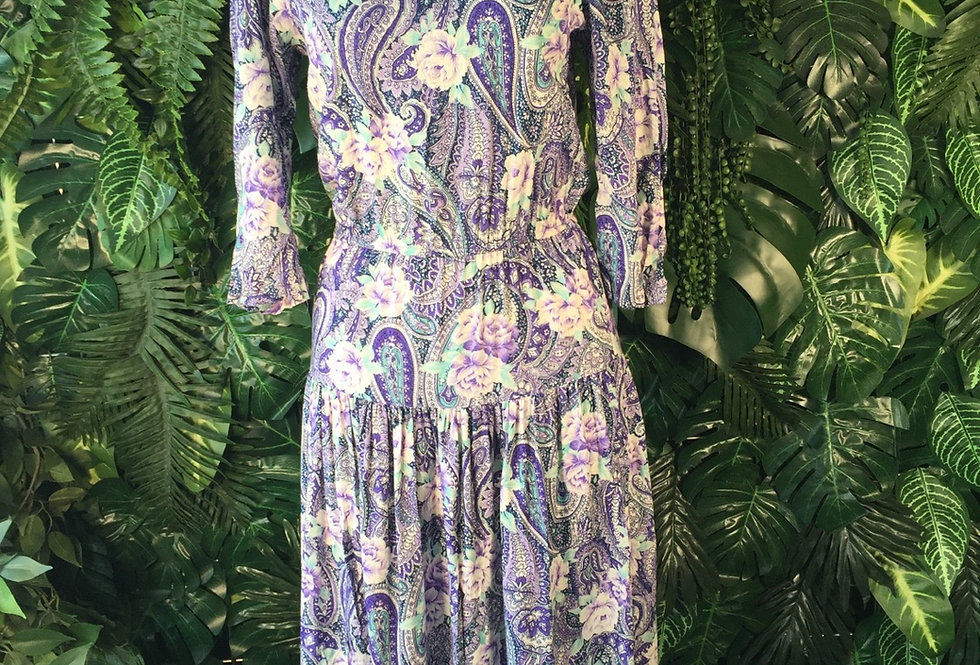 Paisley half sleeve dress (size 8)
