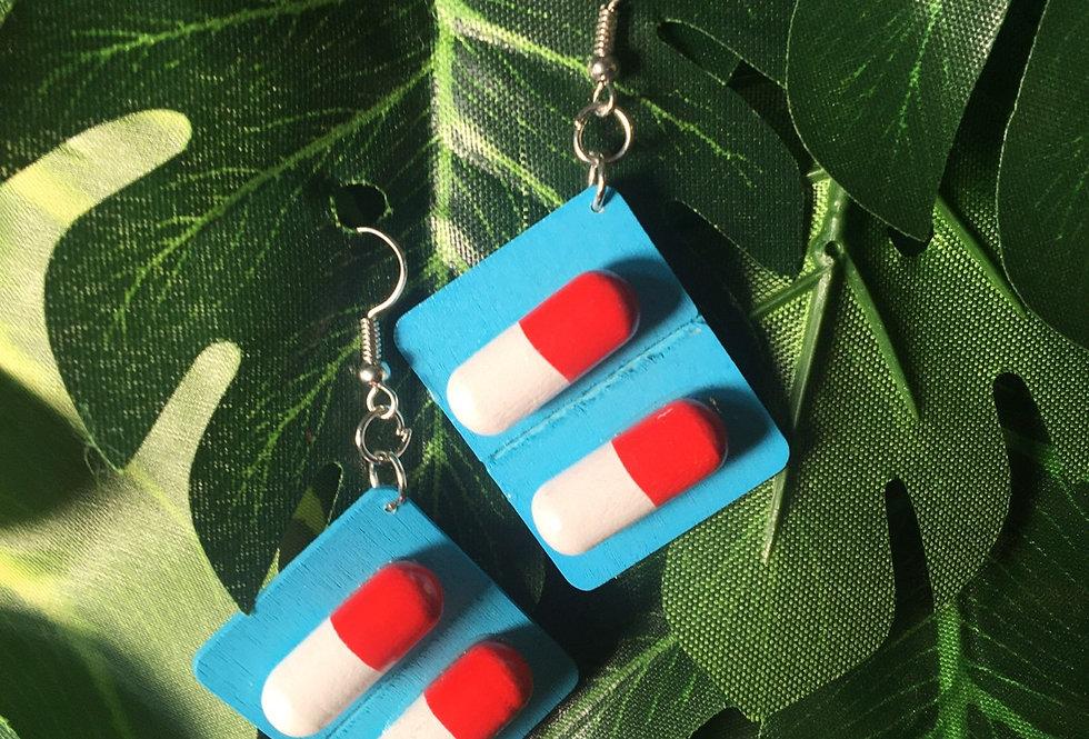 Pill earrings