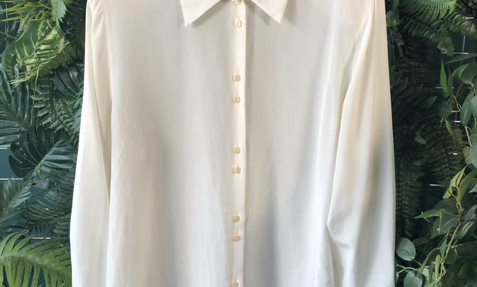 1990s white eleonora blouse
