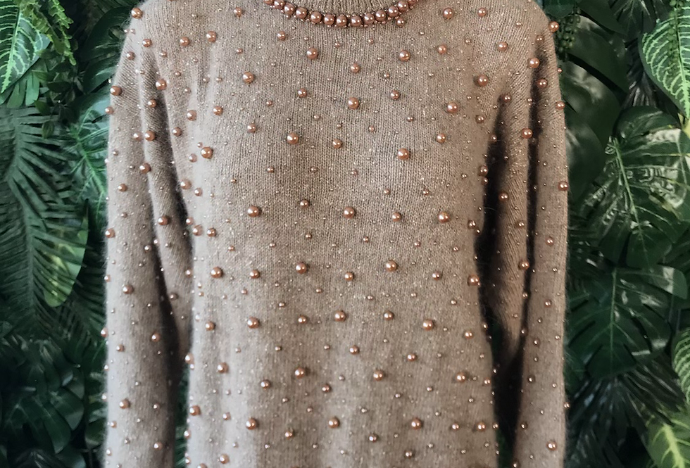 1990s beaded knit (medium)