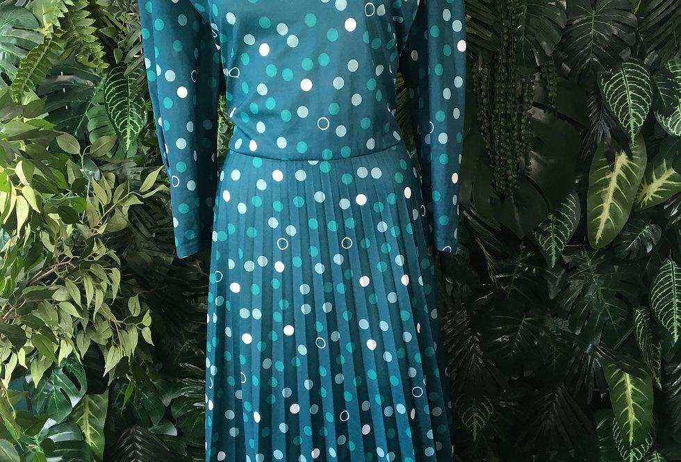 Graphic 80s spot dress (size 16-18)