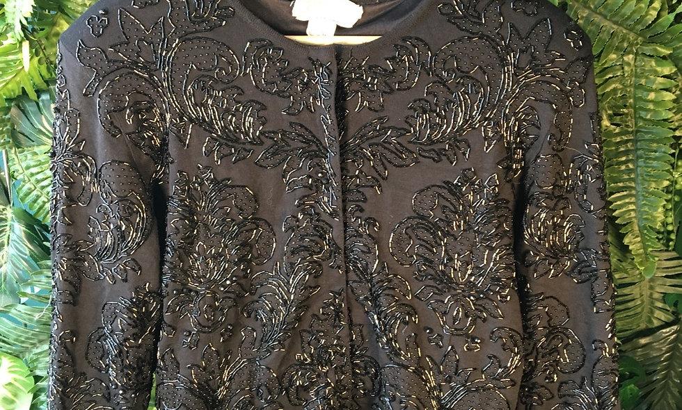 Pure Wool Beaded Cardigan (M/L)