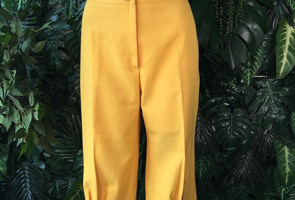 V Modell vintage canary yellow capri pants (size 8)