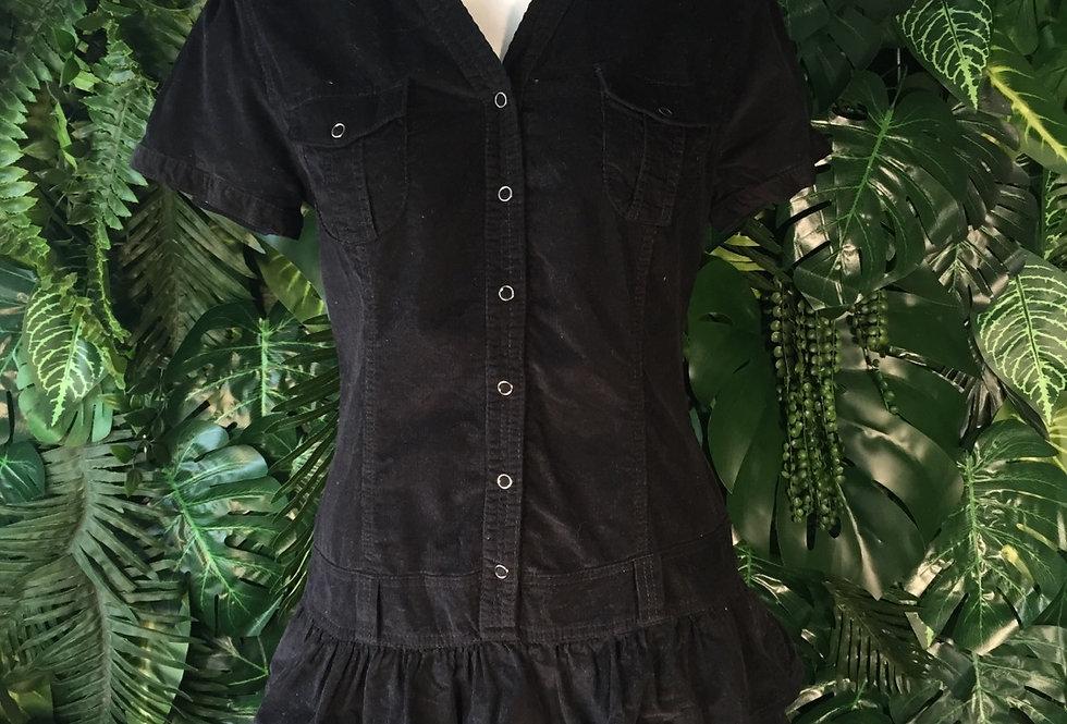 Corduroy ruffle dress (size 12)